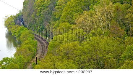 Riverside Train Tracks
