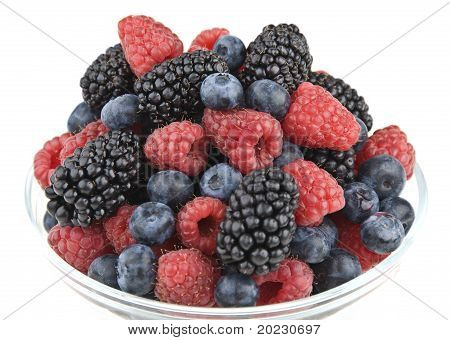 Raspberries, Blueberries And Blackberries