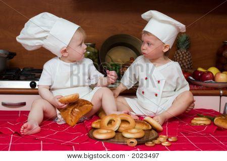 Dois cozinheiros engraçados