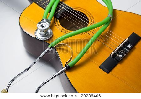 Stethoscope And Guitar.