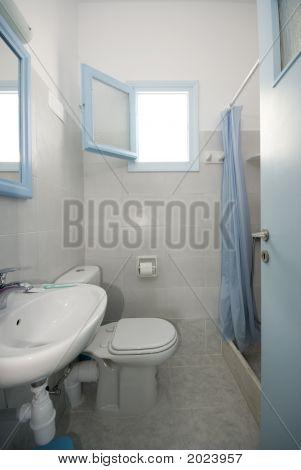 Bathroom In Greek Island Apartment