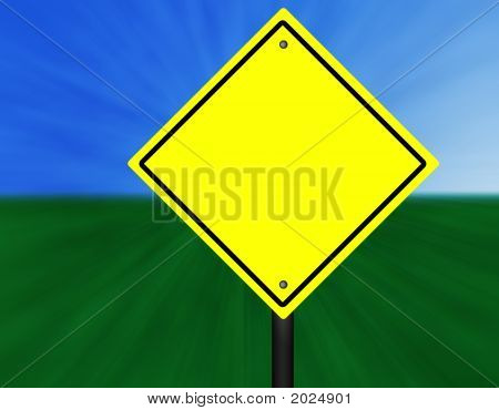 Blank Graphic Street Sign