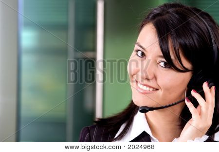 Business Customer Support Girl