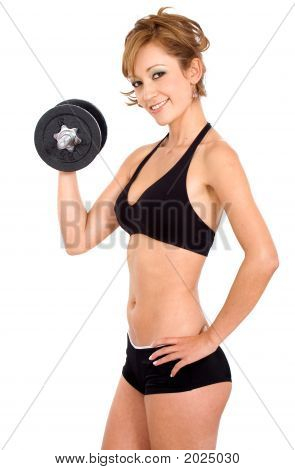 Girl Doing Free Weights
