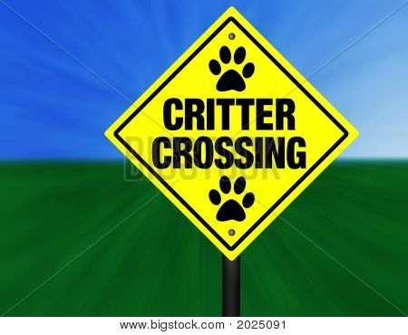 Critter Crossing Graphic Street Sign