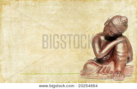 lovely background image with buddha. useful design element.