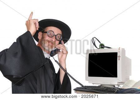 Priest On Phone