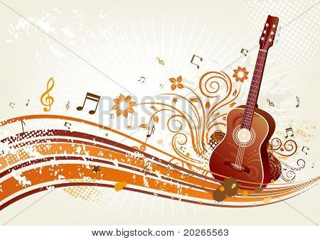 music themed design element