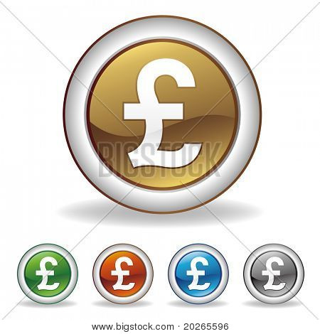 vector pound icon set