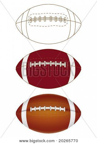 football on a white background