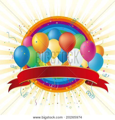 vector balloons disign element