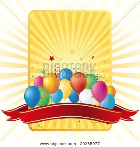 vector balloons disign element,celebration background