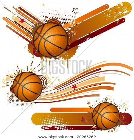 Basketball-Design-element