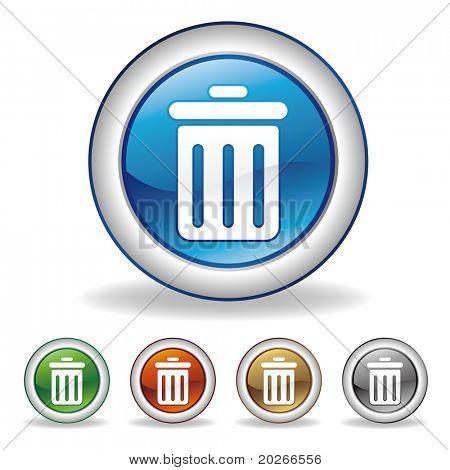 vector trash can icon