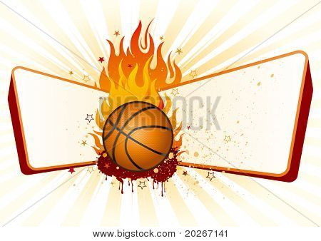 flame,basketball design element