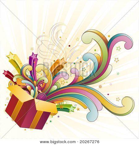 gift box,celebration design element