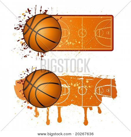Basketball-Sport-Design-Elemente