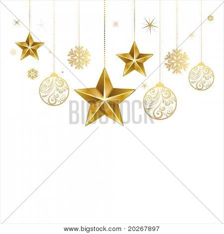 christmas star and decoration ball