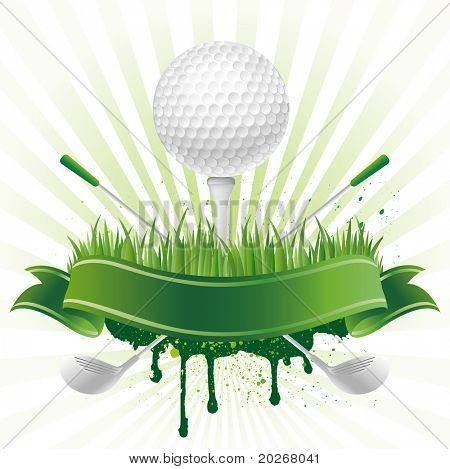 vector golf sport design element