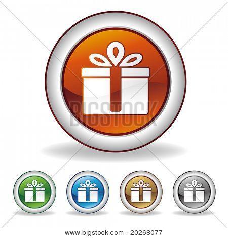 Vektor-Geschenk-Symbol auf weißem Hintergrund