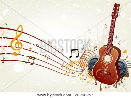 vector background of music themed