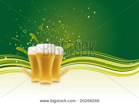 Bier-Design-Element, abstrakt