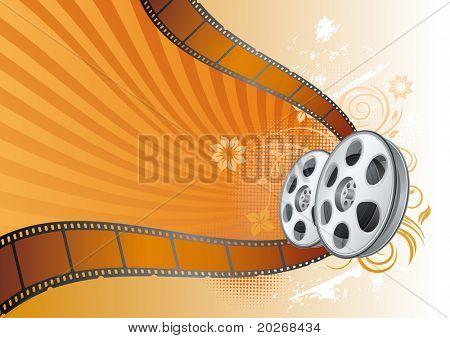 tira de filme, ilustração de tema de filme