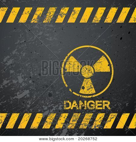 nuclear danger warning background
