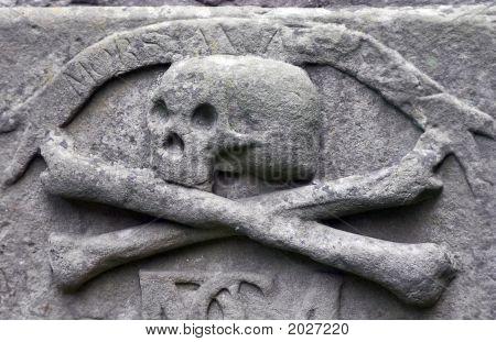 Crossbones On A Grave