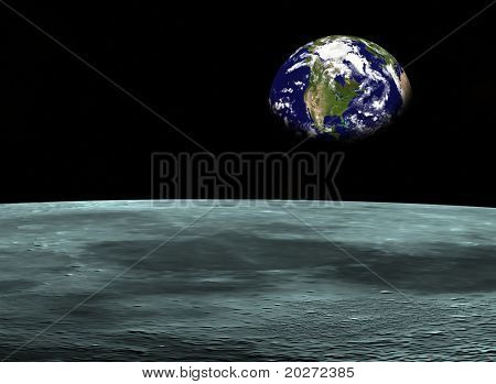 Space travel, Earth at the horizon