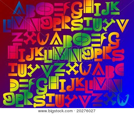 Alphabet background