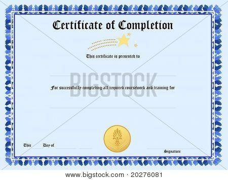 Blank award certificate form