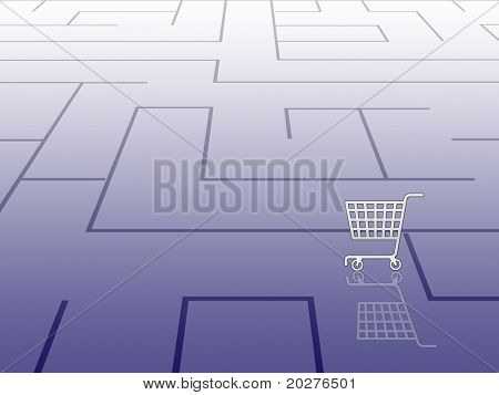 Labyrinth concept, shopping theme