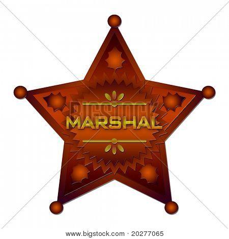 Marschall abstrakte Abzeichen. Isoliert