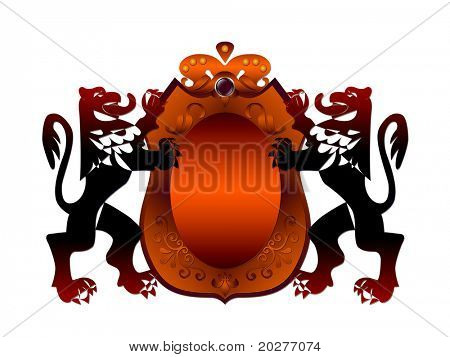 Royal badge with a banner for your text