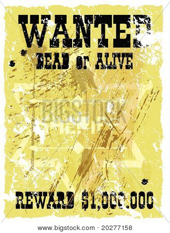 Retro poster in Wild West style. Vector format