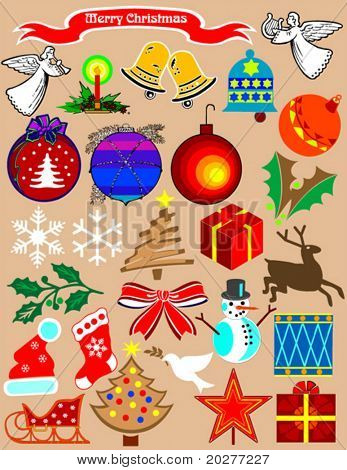 Christmas stuff. A needful clipart for your holiday projects