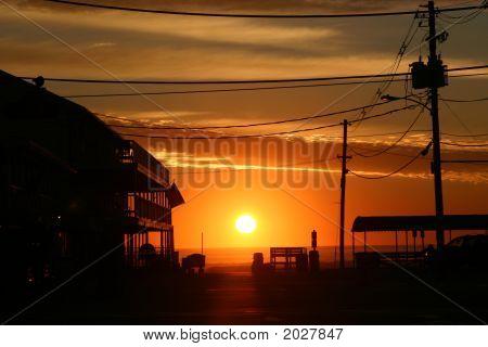 Beach Town Sun