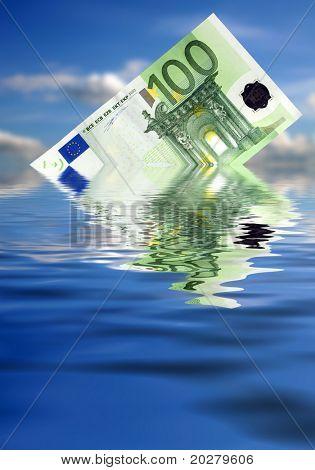Euro sinken harten Wirtschaft mal
