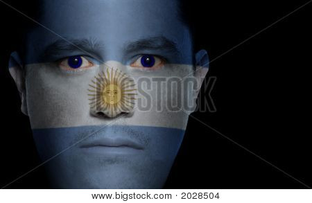 Argentinean Flag - Male Face