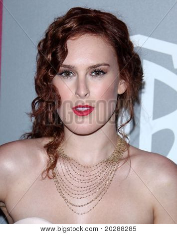LOS ANGELES - JAN 16: Rumor Willis arrives at the 12th Annual WB-In Style Golden Globe After Party on January 16, 2011 in Beverly Hills CA