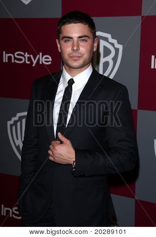 LOS ANGELES - JAN 16:  Zac Efron arrives to the 12th Annual WB-In Style Golden Globe After Party  on January 16, 2011 in Beverly Hills CA