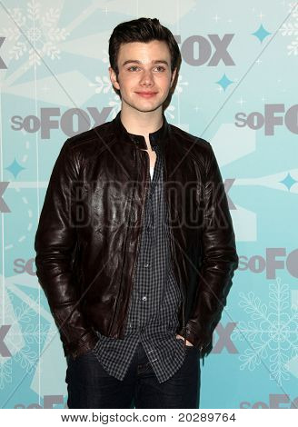 PASADENA, CA - JAN 11:  Chris Colfer arrives at the FOX All-Star Party on January 11, 2011 in Pasadena, CA