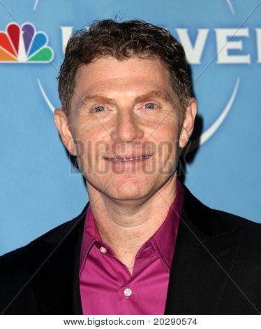 PASADENA, CA - JAN 13:  Bobby Flay arrives at the NBC All-Star Party on January 13, 2011 in Pasadena, CA
