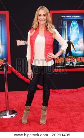 "LOS ANGELES - MAR 06:  Taylor Armstrong arrives at the ""Mars Needs Moms"" World Premiere  on March 06, 2011 in Hollywood, CA"