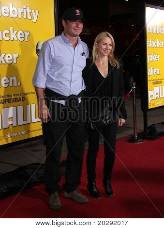 "LOS ANGELES - MAR 14:  Liev Schreiber & Namoi Watts arrive at the ""Paul'"" premiere on March 14, 2011 in Hollywood, CA"