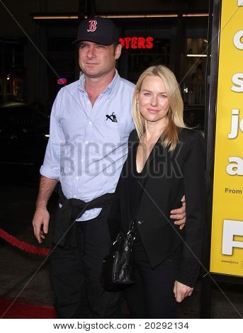 "LOS ANGELES - MAR 14:  Liev Schreiber & Namoi Watts arrives at the ""Paul'"" premiere on March 14, 2011 in Hollywood, CA"