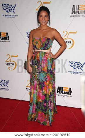 LOS ANGELES - MAR 19: Olivia Munn arrives to the 25th Annual Genesis Awards  on March 19, 2011 in Century City, CA