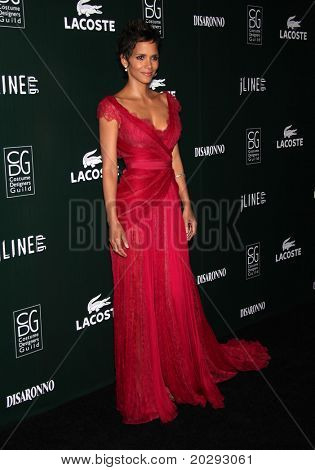 LOS ANGELES - FEB 22:  Halle Berry arrives to the 13th Annual Costume Designers Guild Awards  on February 22,2011 in Hollywood, CA