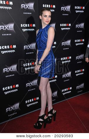 "LOS ANGELES - APR 11:  Emma Roberts arrives to ""Scream 4"" World Premiere  on April 11, 2011 in Hollywood, CA"